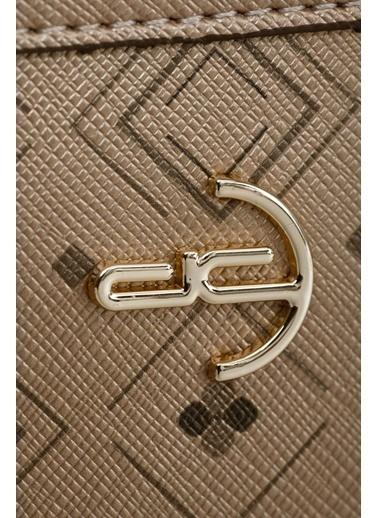 Deri Company Clutch / El Çantası Altın